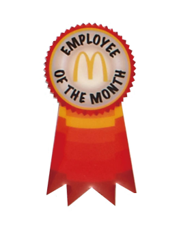 Röd Employee of the month